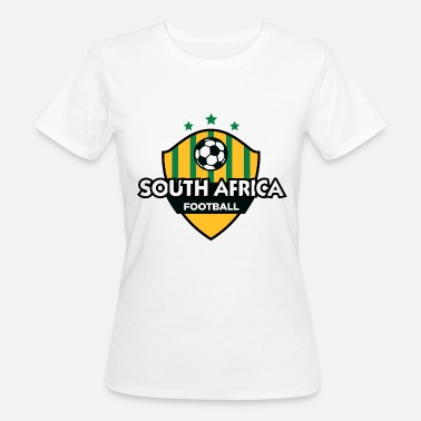 South Africa Fan Football Emblem Of South Africa - Women's Organic T-Shirt
