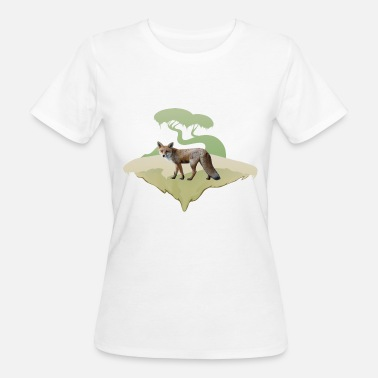 Red Fox Fox, red fox motif - Women's Organic T-Shirt