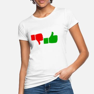 Thumbs Pointing At Me thumbs redgreen png - Frauen Bio T-Shirt