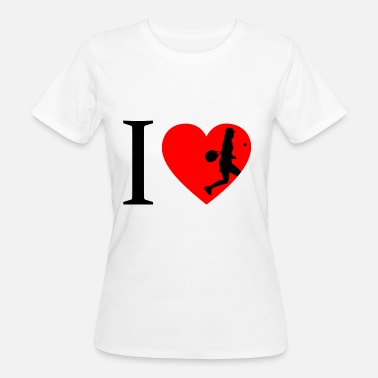 I Love Tennis I love tennis, tennis player - Women's Organic T-Shirt