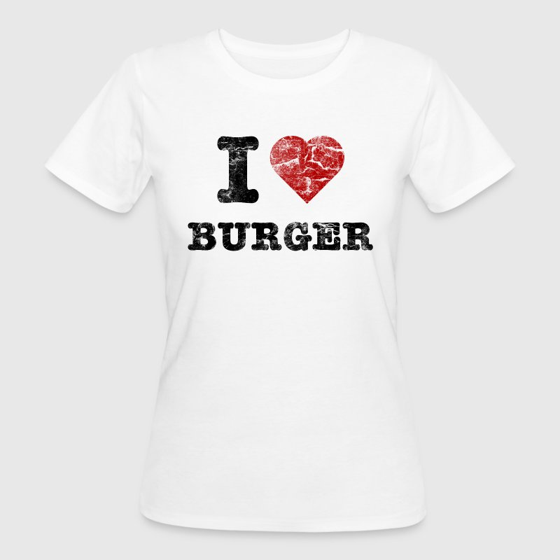 i love burger vintage dark - T-shirt ecologica da donna
