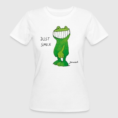 Janoschs Günter Kastenfrosch Just Smile - Frauen Bio-T-Shirt