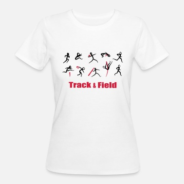Track And Field Decathlon, Track and Field - T-shirt ecologica da donna