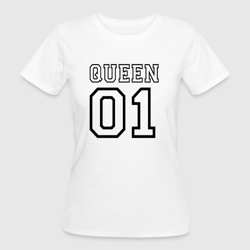 quePARTNERSHIRT - Queen 01 - Frauen Bio-T-Shirt