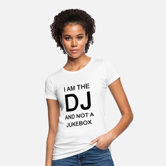Platter T-Shirts - DJ Music Jukebox Deejey Disc Jockey Funny Gift - Women's Organic T-Shirt white