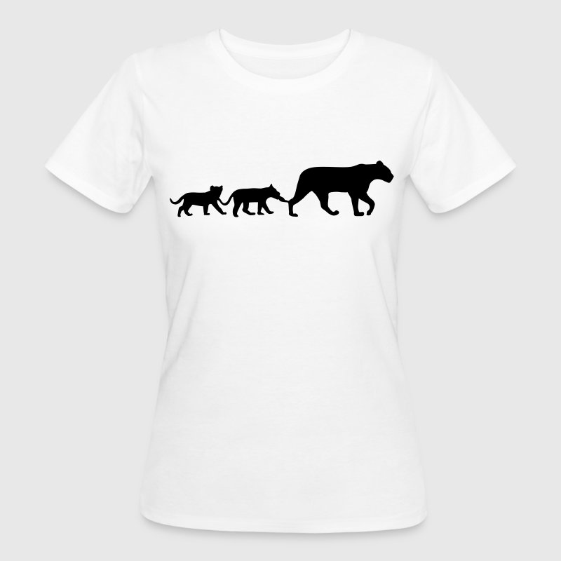 Lioness and lion cubs - Women's Organic T-shirt