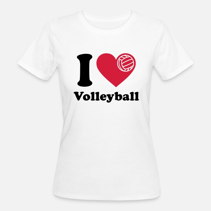 Volleyball T-shirts - Volleyball  Volley-ball Volley  - T-shirt bio Femme blanc