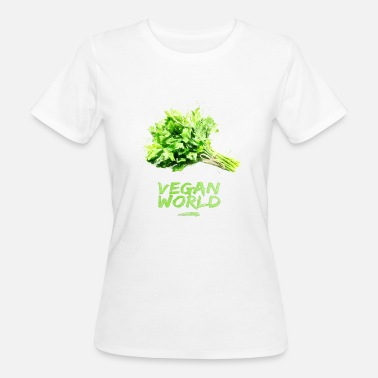 World Series VEGAN WORLD - persil - T-shirt bio Femme