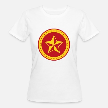 Red Star Communist The communist red star on circle - Women's Organic T-Shirt