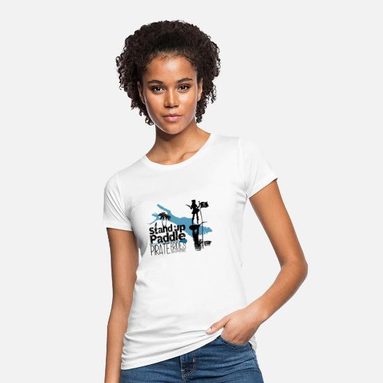 Bestsellers Q4 2018 T-shirts - SUP Pirate Brides Bodensee - T-shirt bio Femme blanc
