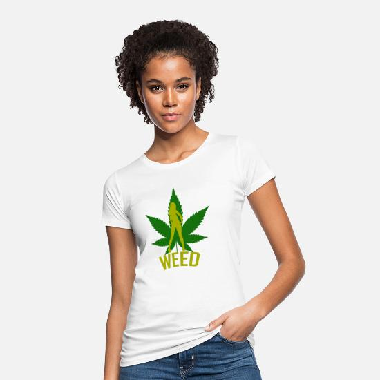 Hemp T-Shirts - Weed girl - Women's Organic T-Shirt white