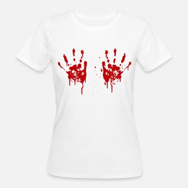 Boobs Hands Bloody hands boobs - Women's Organic T-Shirt