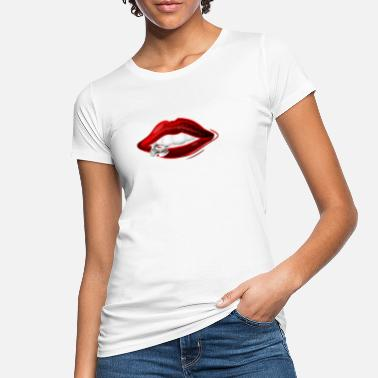 Red Lips Lips in red - Frauen Bio T-Shirt