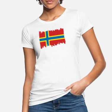 Expedition Orkney Islands National Flag - brush vertical - Women's Organic T-Shirt
