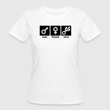 Male Female Nerd/Gamer - Women's Organic T-Shirt