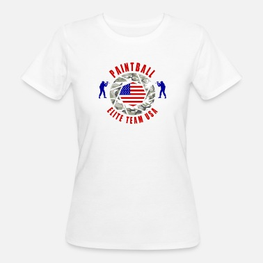 Team Usa Paintball Elite Team USA / Gift Team Sport - Vrouwen Bio-T-shirt