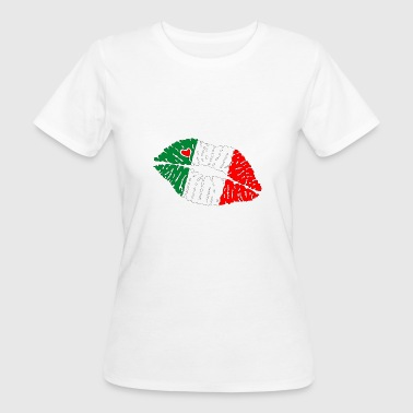 Flag Kiss Lips Italia - Women's Organic T-shirt