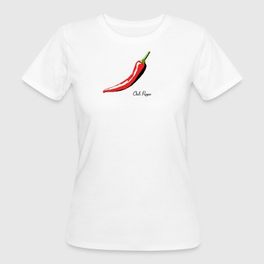 Chili Pepper For White Shirts - Women's Organic T-shirt