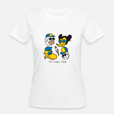 Unshaven Cheslo: it's comic time - Women's Organic T-Shirt