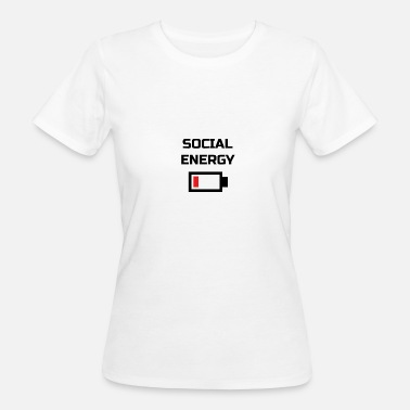 Battery Social Energy Low Battery T-Shirt BLACK - Frauen Bio-T-Shirt