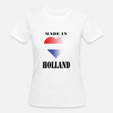 Blauw made in HOLLAND - Vrouwen Bio-T-shirt