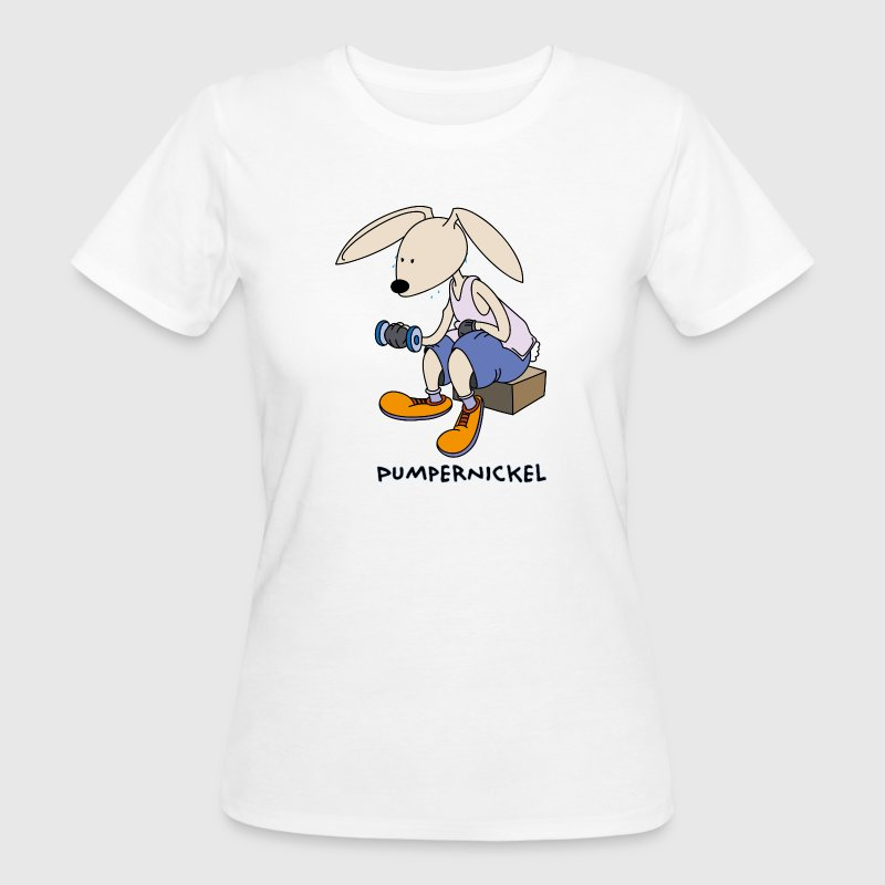 Bunny in the gym: pumpernickel bread - Women's Organic T-shirt