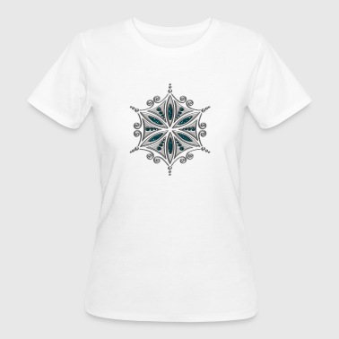 Aphrodite Symbol Flower of Aphrodite, silver, Symbol of  love, beauty and transformation, Power Symbol, Talisman - Women's Organic T-Shirt