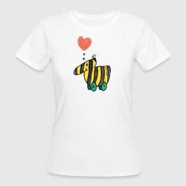 Janosch's Tigerente with heart - Women's Organic T-shirt