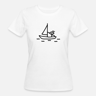 Stick Figures Sail stick figure - Women's Organic T-Shirt
