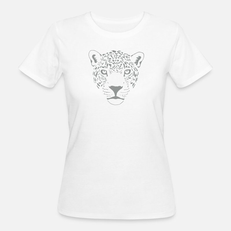 Animal T-Shirts -   cougar cat  panther leopard cheetah - Women's Organic T-Shirt white