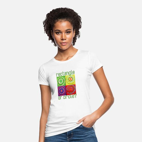 Quadrat T-Shirts - Rectangle or circle - Women's Organic T-Shirt white