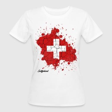 Confederation Swiss Confederation outline gift - Women's Organic T-Shirt