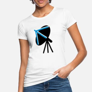 Dish satellite dish facing to the sky - Women's Organic T-Shirt