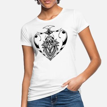 peak ass poker peakass mandala lotus flower - Women's Organic T-Shirt