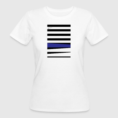 Royal Blue Stripes - T-shirt bio Femme