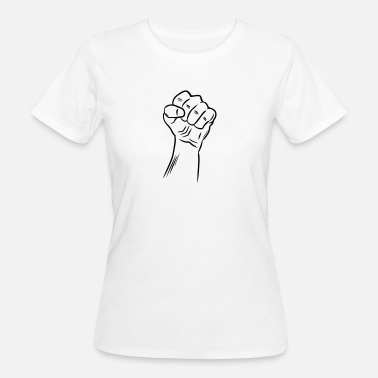 Raised Fist Fist / Raised fist / Revolution / Defiance - Women's Organic T-Shirt