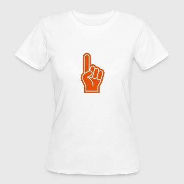 Team Event Great finger at sporting events - Women's Organic T-Shirt