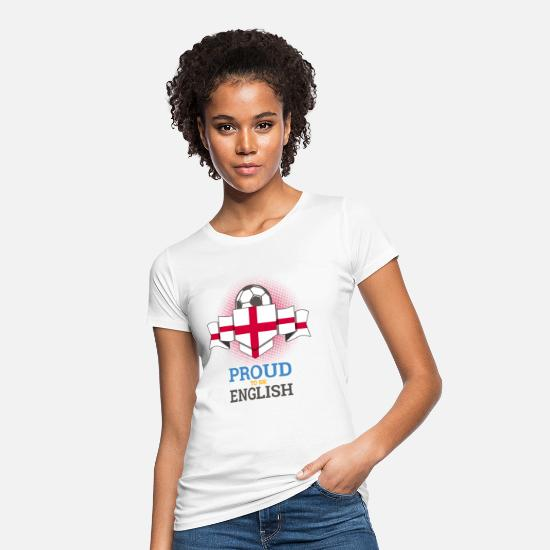 Fan T-Shirts - Football English England Soccer Team Sports - Women's Organic T-Shirt white