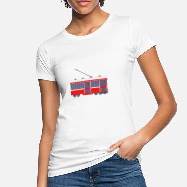 Tram Tram Tram Train Train Train Locomotive Train Bus - Women's Organic T-Shirt