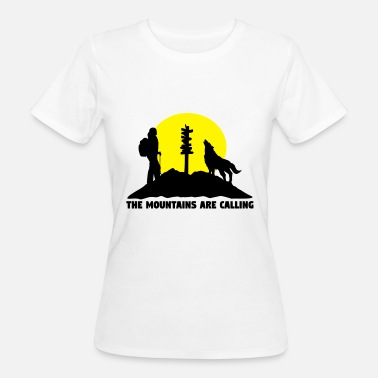 Hiking Hiking woman - The mountains are calling - Ekologisk T-shirt dam