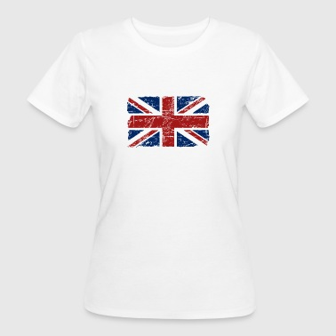 Union Jack - UK - Vintage Look  - T-shirt bio Femme