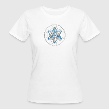 Platonic Solids Metatrons Star Tetrahedron - Merkaba, DD, silver blue,  Flower of Life, Sacred geometry, Platonic Solids - Women's Organic T-Shirt