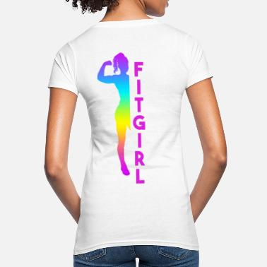 fitgirl muscle fit body rainbow - Women's Organic T-Shirt