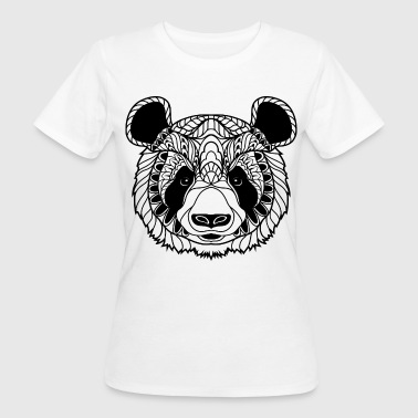 Cute Panda Face Illustration - Women's Organic T-shirt