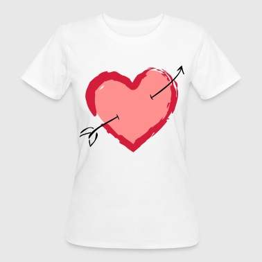 Heart with arrow - Women's Organic T-shirt