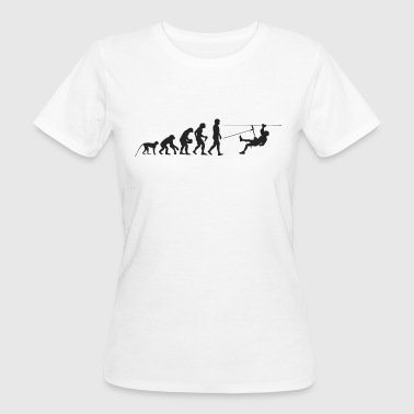 Evolution Abseilen - Frauen Bio-T-Shirt