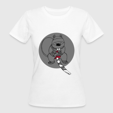 Ninja Bieber Tier Zoo Geschenkidee Cartoon Kinder - Frauen Bio-T-Shirt