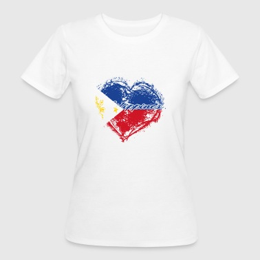 HOME ROOTS COUNTRY GIFT LOVE Philippines - Frauen Bio-T-Shirt