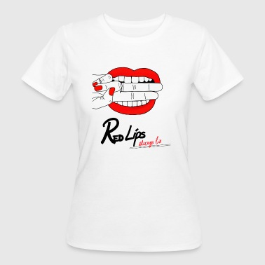Red lips - Camiseta ecológica mujer