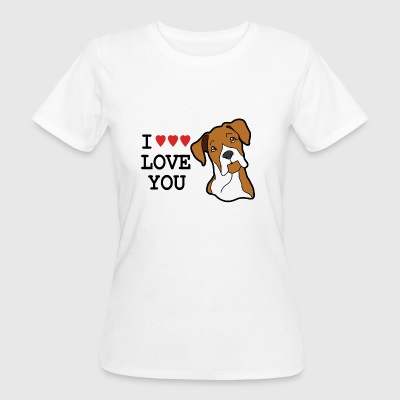 I LOVE YOU DOG - T-shirt ecologica da donna
